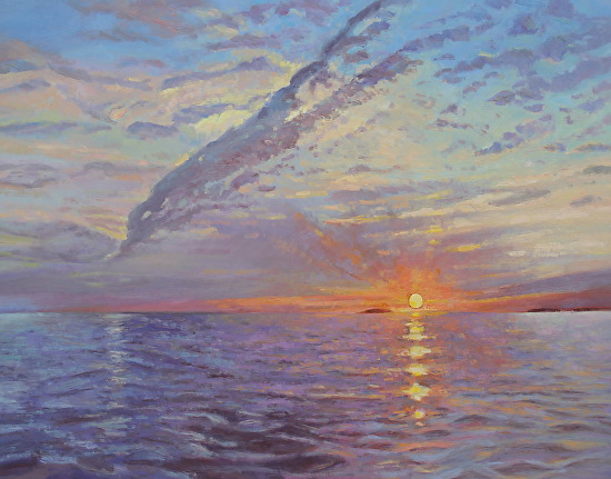 May 29, 2019 Maine Sunrise Painting! Robert Plays Ukulele To The