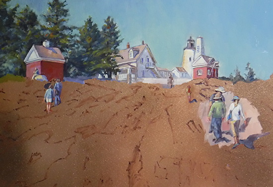 June 19, 2019 Working On Pemaquid Lighthouse Oil on Copper