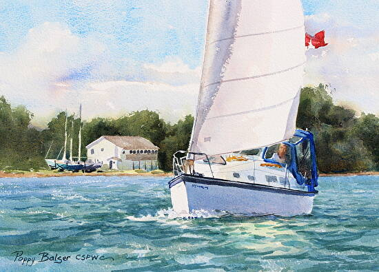 Sailing By    and chugging along slowly | Paintings by Poppy