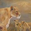 Lioness & Cubs (print)
