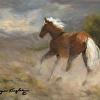 Kicking Up Dust (Wild Pony Print)