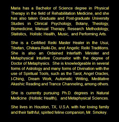 Maria Celeste Garcia - Page - THE COSMIC ANGELIC STARCHILD ON AN