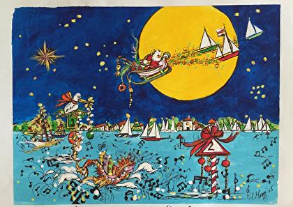 martha moore meskauskas - Portfolio of Works: Nautical Christmas Cards