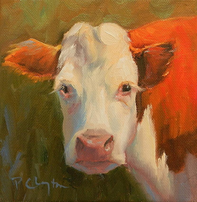 Patricia Clayton Work Zoom Cow Eyelashes
