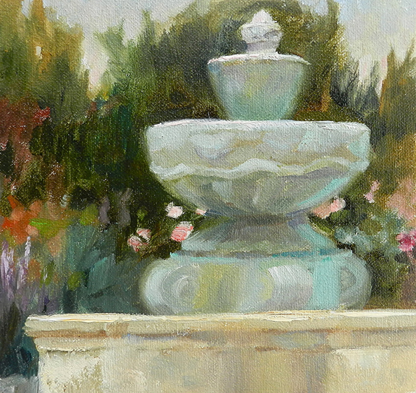 Patricia Clayton - Work Zoom: DRY FOUNTAIN AT THE CARMEL MISSION