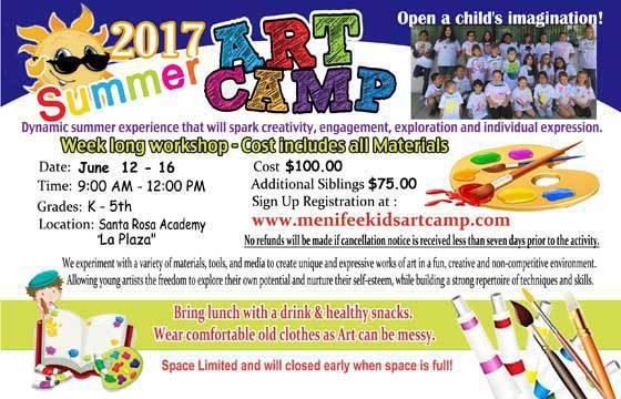 Kids Art Classes Summer Art Camp in Menifee California   Temecula