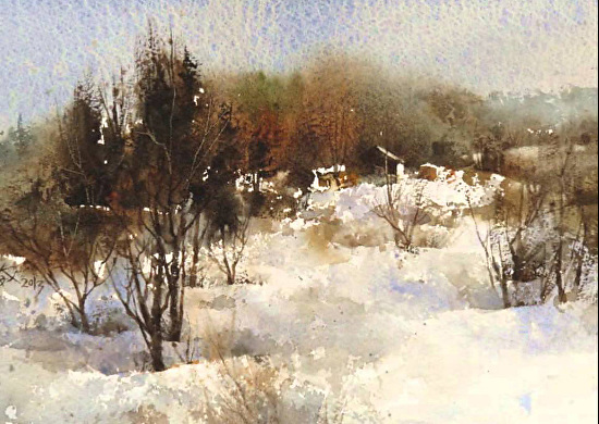 painting landscapes  cityscapes and seascapes in watercolor