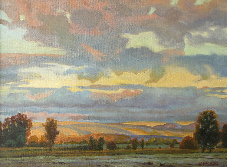 how to create depth in landscape painting kevin mccain blog