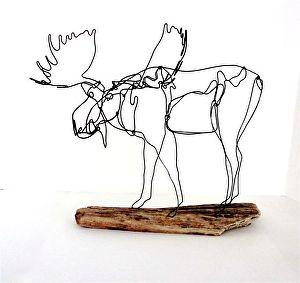 moose wire sculpture bud bullivant work detail moose wire sculpture