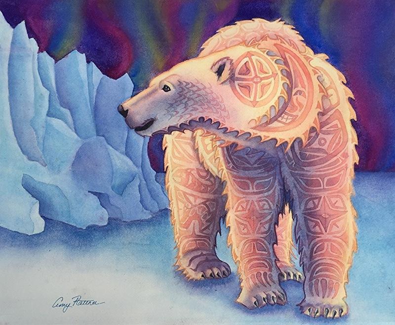 Amy Rattner Work Zoom Polar Bear Totem