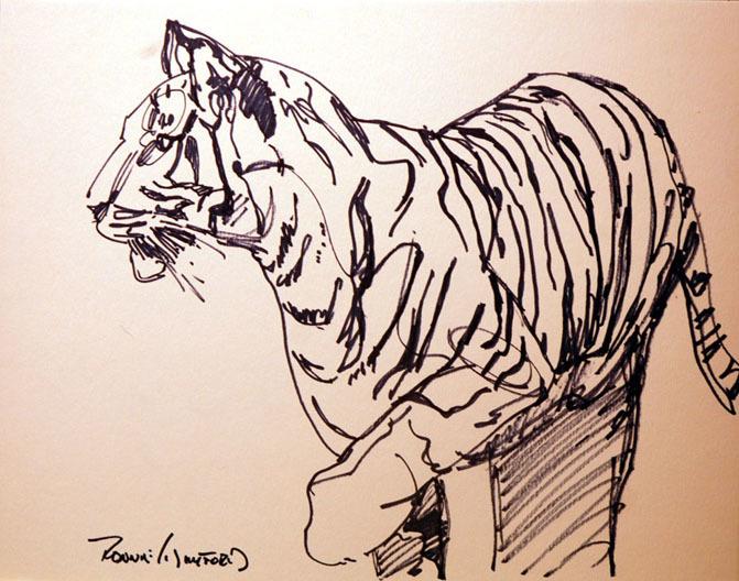 Ronnie Williford Work Zoom Tiger Draw
