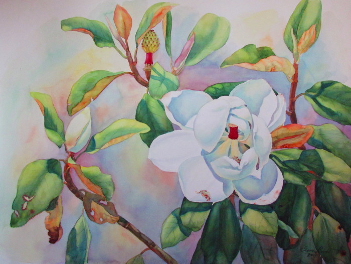 California Flower Painting Elena Roche