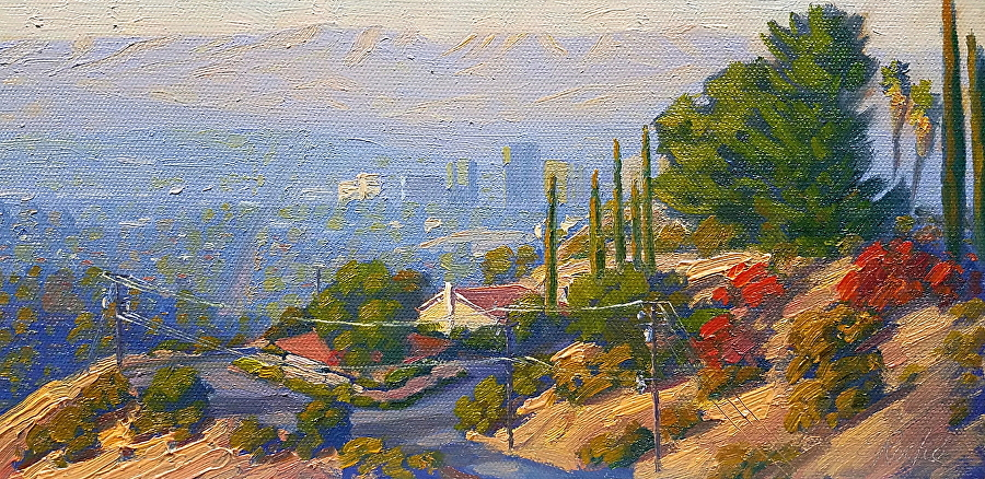 Los Angeles Plein Air Painting By Elena Roche