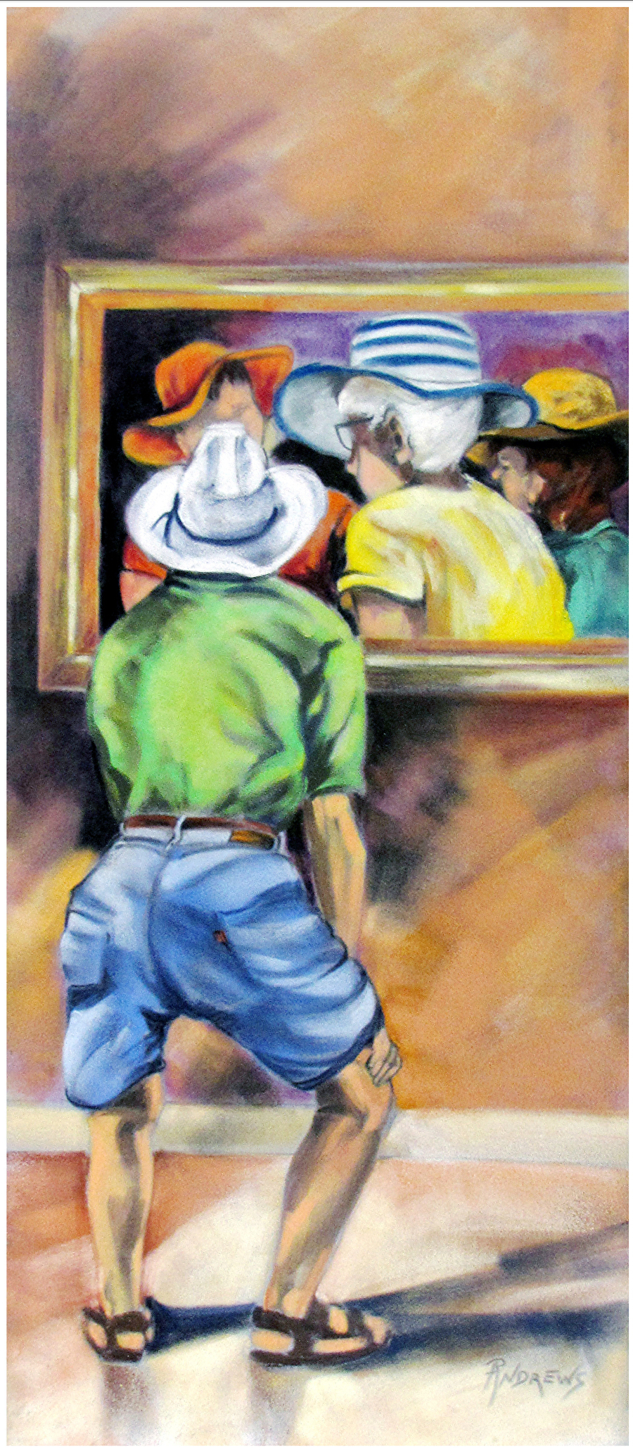 Mutual Admiration Pastel Texas Artist Rae Andrews By Rae Andrews
