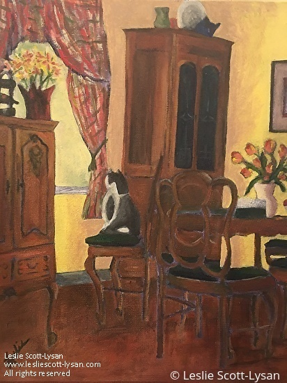 Leslie Scott Lysan Work Zoom Our House You Place The Flowers In