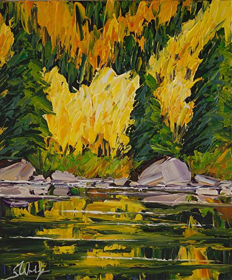 Bill Hester Fine Art - Work Zoom: Reflective Pool 24 X 20