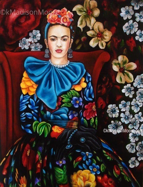 33dca0e2d8c4 k Madison Moore - Work Zoom  Portrait of Frida in a Floral Dress ...