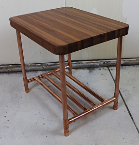 Paul Segedin - Work Detail: Sapele & Copper Pipe End Table