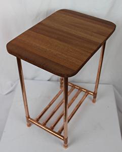 Paul Segedin - Work Zoom: Sapele & Copper Pipe Side Table