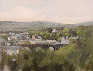 0a2dd92f171d I am pleased to announce that my painting One Morning in June, Buxton  painted on location has been awarded 3rd place at the Buxton Spa Prize Open  2015.