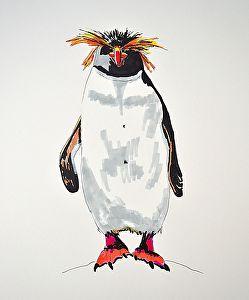 Judy Magladry Work Detail Macaroni Penguin