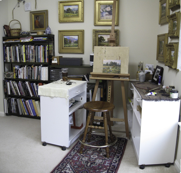 The Compact Efficient Art Studio | Branchflower Blog