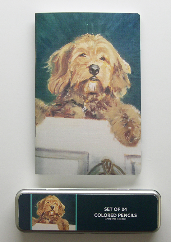 louise duffy sketch pad and pencil set golden doodle art and accents