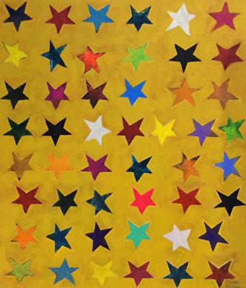 Star Spangled by Elaine Kehew Acrylic ~  x