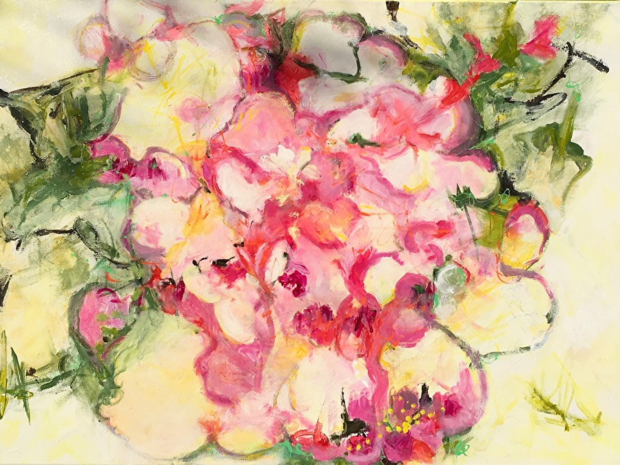 "Full Bloom by Pamela Fowler Lordi Acrylic ~ 22"" x 30"""