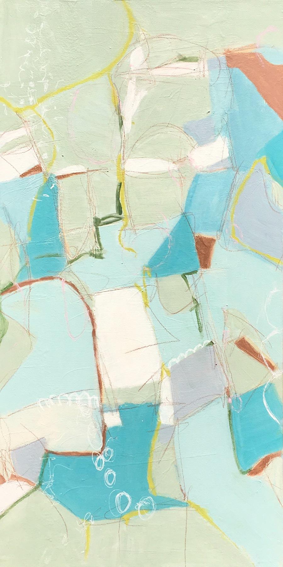 "SHE SELLS SEA SHELLS by Pamela Fowler Lordi Acrylic ~ 30"" x 15"""