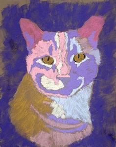 Pet Portrait of Orange Tabby - Step 3 | Carol McIntyre - Blog