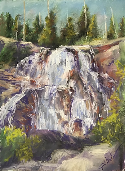 Lake Tahoe Lower Eagle Falls 9 X 12 Pastel Landscape