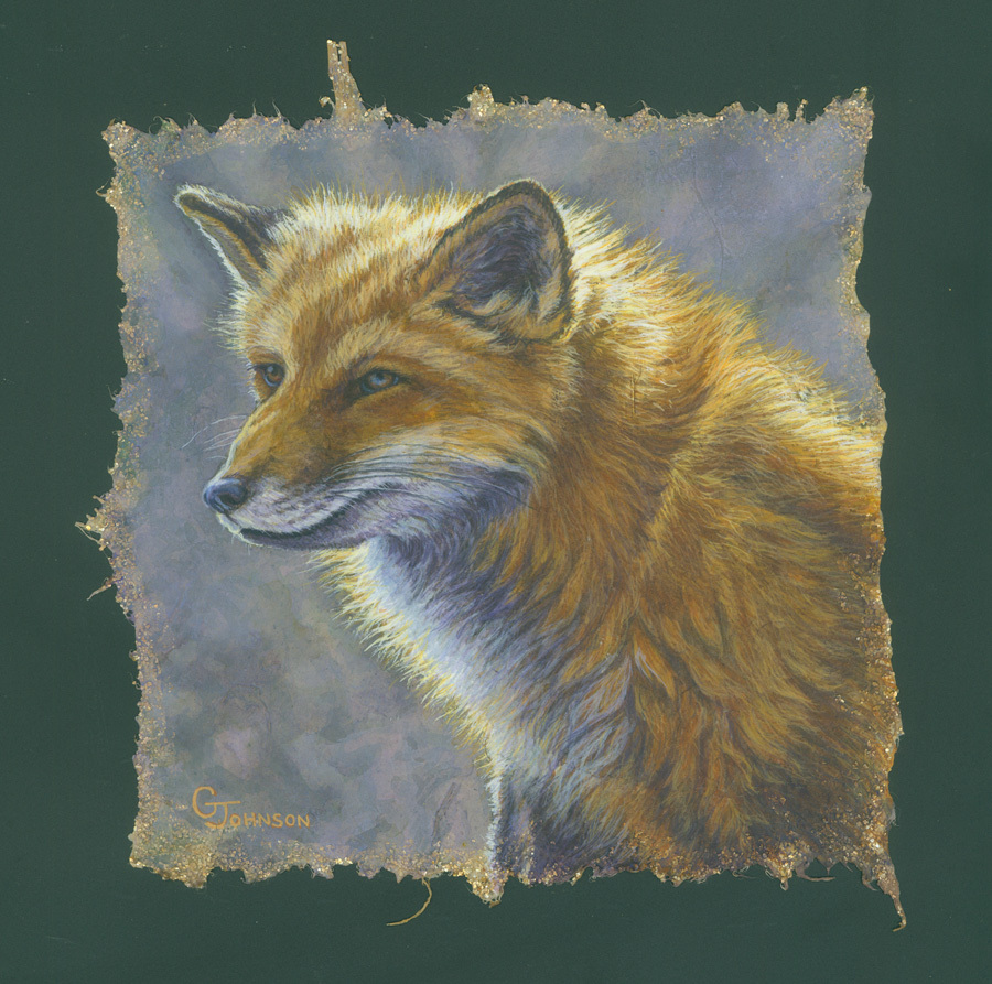 Red Fox Portrait By Gary Johnson Mixed Media