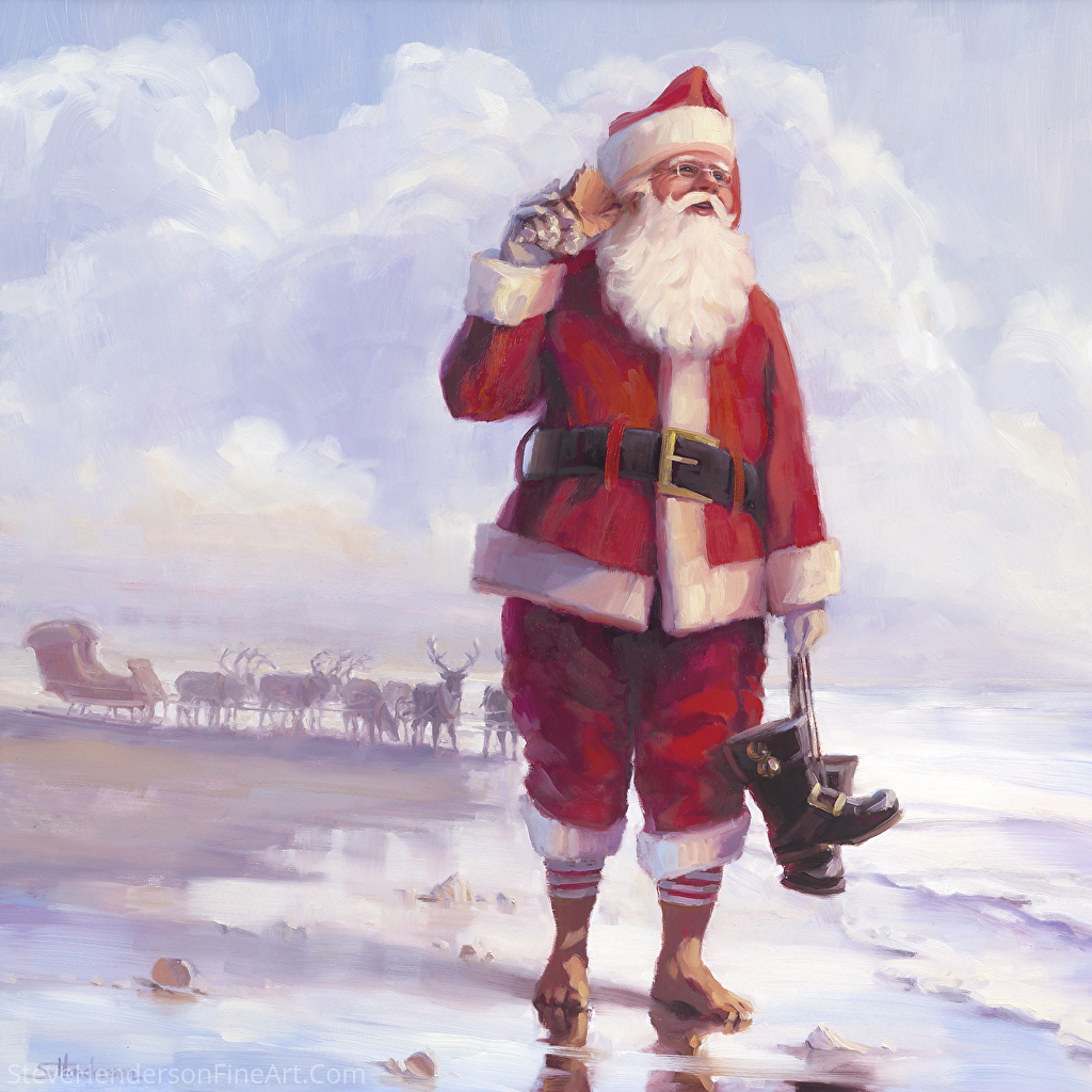 Santa Taking a Break -- Wall Art and Home Decor at Steve Henderson Collections & Steve Henderson - Work Zoom: Santa: Taking a Break -- Wall Art and ...