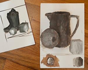 Toch studies by a beginning painter