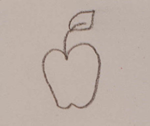 "Our brain's ""apple"" drawing"