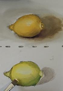 Learn to paint: beginner lemon