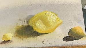 Learning to paint: image of a lemon