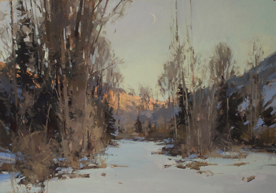 Sunrise, Moonset by Jill Carver  ~ 21 x 30